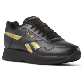 Reebok Royal Glide Ripple Double Black / Gold Metallic DV3847