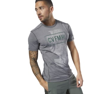 Reebok CrossFit Burnout SS Tee - Solid Grey D94898