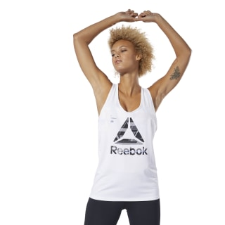 ACTIVCHILL Graphic Tank Top White DU4167