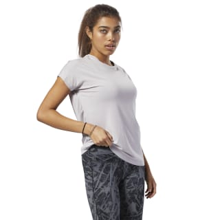 Mesh Panel Tee Lavender Luck D95038