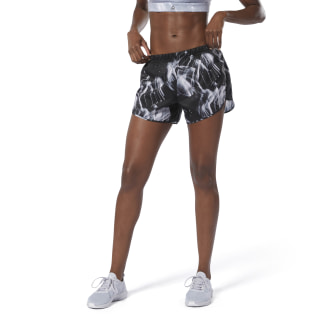 Running Essentials 4-Inch Printed Short Black DU4252