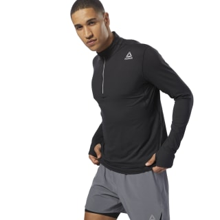 Top Running Thermowarm Touch Quarter-Zip Black D92321