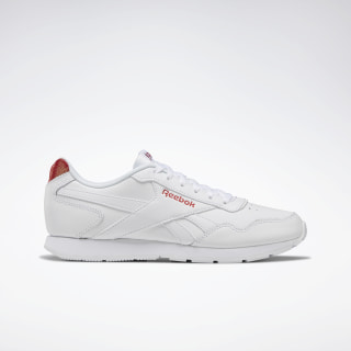 Reebok Royal Glide Shoes White / Rebel Red DV8890