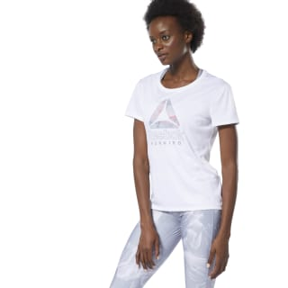 Camiseta Running Essentials Delta Graphic White DU4264