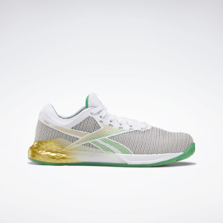 Reebok Nano 9 Women's Training Shoes White / Matte Gold / Pure Grey 2 FV6073