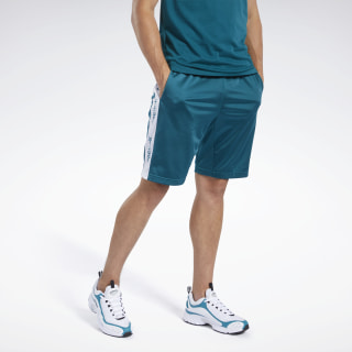 Training Essentials Linear Logo Shorts Heritage Teal FN1675