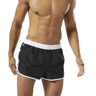 Retro Short Shorts Black / White DW9558