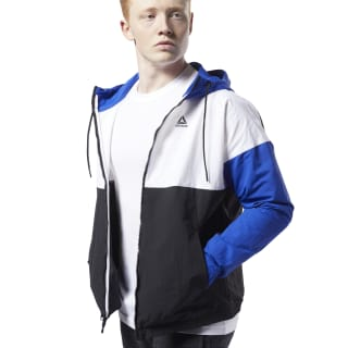 Training Essentials Linear Logo Windbreaker Cobalt FI1937
