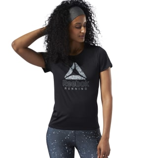 Running Essentials Graphic Tee Black EC2996