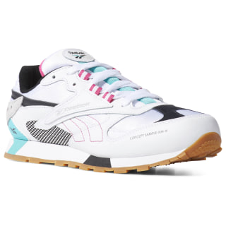 Classic Leather ATI 90s Shoes - Grade School White / Teal / Blk / Grey DV5513