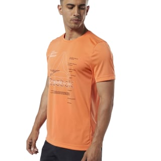 T-shirt graphique Workout Ready Fiery Orange EC0867