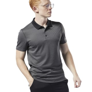 WOR Striped Polo Shirt Black DW5230