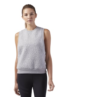 Felpa senza maniche Yoga Pose Medium Grey Heather BR2801