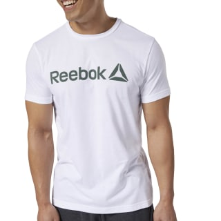 Reebok Linear Read Tee White / Chalk Green DH3790