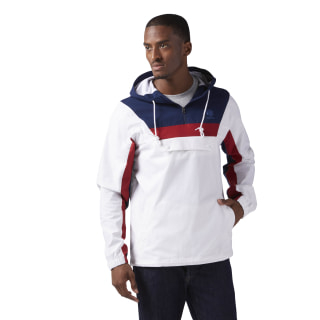 Cotton Anorak Sweatshirt White CE5073