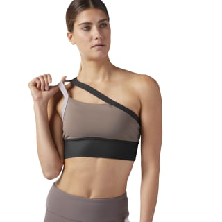 One shoulder Padded Bra Smokey Taupe CD3821