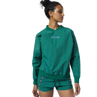 Meet You There Woven Pullover Clover Green EC2366