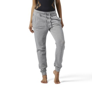 Distressed Jogger Medium Grey Heather BR2802