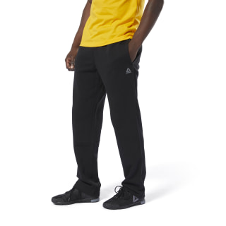 Pantalón Training Essentials French Terry Open Hem Black DU3754