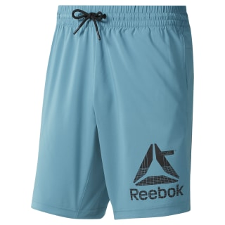 WOR Woven Graphic Shorts Turquoise DU2170