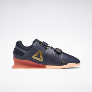 Reebok Legacy Lifter Shoes Heritage Navy / Rosette / Sunglow EG9095