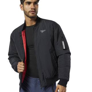Chaqueta bomber Outdoor Down Black / Rebel Red EJ8350