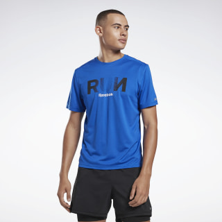 T-shirt Running Essentials Graphic Humble Blue FJ3966
