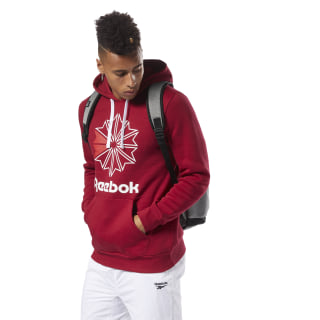 Reebok Classics Big Logo Hoodie Cranberry Red / White DH2108