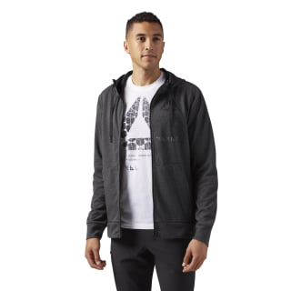 Speedwick Full-Zip Hoodie Dark Grey Heather CG1272