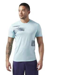 Reebok CrossFit Burnout Tee Turquoise CD4487