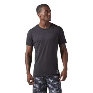Reebok CrossFit Poly Blend Tee Black Melange/Black Melange CD7612