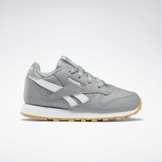 Classic Leather - Toddler Grey / WHITE DV9614
