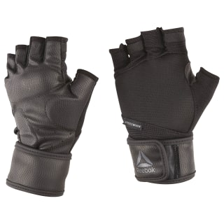 Guantes con soporte de muñeca Training BLACK/TIN GREY F11-R CV5843