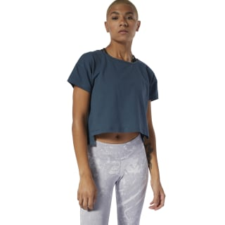 Combat Perforated Crop Top Blue Hills DQ1999