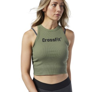 Reebok CrossFit® Crop Tank Top Canopy Green EC1406