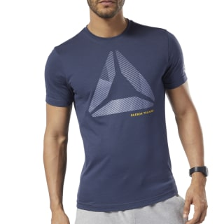 Graphic Series One Series Training Shift Blur Tee Heritage Navy EC2085