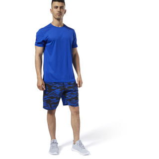 Спортивные шорты WOR COMM GRAPHIC SHORT cobalt ED2717