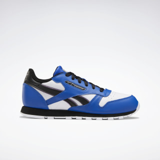 Classic Leather Shoes - Grade School Humble Blue / Black / Silver Met. EH1965