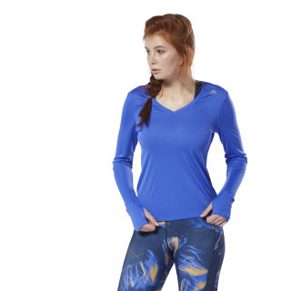 Maglia Running Essentials Long Sleeve Crushed Cobalt DP6612
