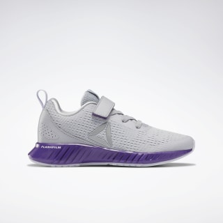 Flashfilm Runner Alt Shoes - Preschool Cold Grey 2 / Regal Purple / Lucid Lilac EG8522