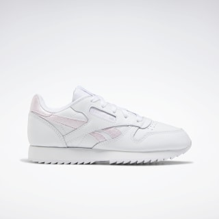 Classic Leather Shoes White / Pixel Pink / None EG5969
