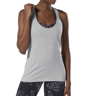 Camiseta sin mangas Racer Medium Grey Heather DU4637