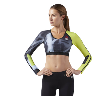 Reebok CrossFit Compression Cropped Long Sleeve Shirt Multicolor CD1399