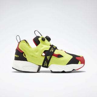 InstaPump Fury Boost Shoes Black / Hypergreen / Rbk Red FW5305