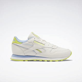 Кроссовки Reebok Classic Leather Chalk / Fluid Blue / Semi Solar Yellow EF3277