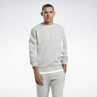 Sweatshirt met Ronde Hals Medium Grey Heather / White FS6669