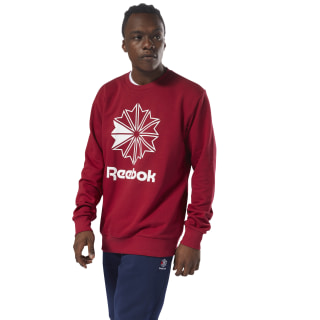 Classics French Terry Big Iconic Crewneck Cranberry Red DM5159