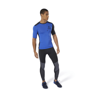 T-shirt de compression à motif Training Crushed Cobalt DU3955