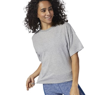 TRAINING ESSENTIALS TEE Medium Grey Heather CY3586