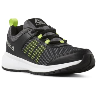 Reebok Road Supreme - Pre-School Black / Alloy / Neon Lime / White CN8567